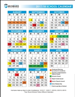 Check out the 2017 2018 Broward School Calendar!   News and